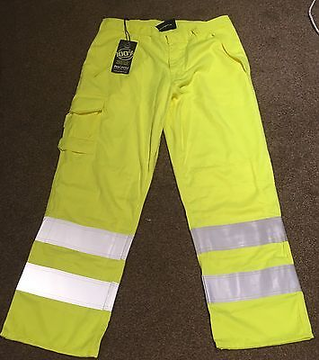 "ProGARM Hi Vis TROUSER Flame Retardant Resistant ARC Flash - 34""S, RPR £95.76"