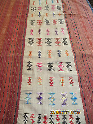 Finely woven Buna textile with embroidery from West Timor, Indonesia