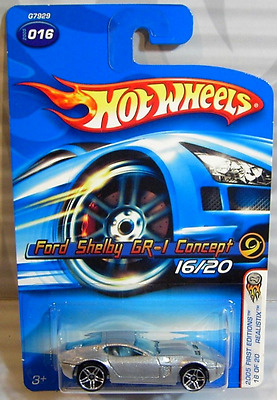 016 Ford Shelby GR-1 Concept 2005 First Editions Hot Wheels Realistix 16/20