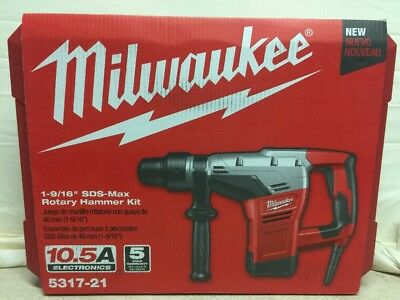 MILWAUKEE 5317-21 SDS Max Rotary Hammer, 10.5A@120V, 450 rpm