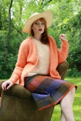 Vintage Mohair Sweater-Cardigan &  Wool Skirt