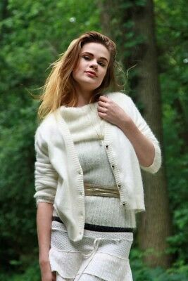 MOHAIR TURTLENECK SWEATER-ANGORA CARDIGAN & Knitted SKIRT