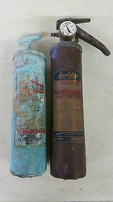 Vintage Fyr Fyter  Fire Extinguisher Lot - Lot of Two -