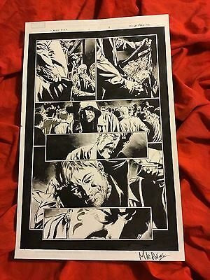 Iron Fist #1 Page #3~Original Published Art~Drawn/signed By Mike Perkins~Netflix