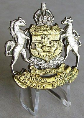Canada Royal Canadian Forces King's Own Calgary Regiment Cap Badge Post WWII