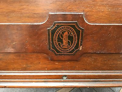 Singer Treadle Sewing Machine Wooden Top Cover Coffin Case Lid