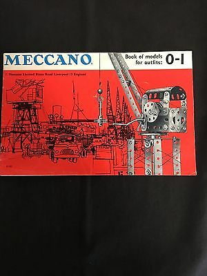 Meccano Book Of Models For Outfits No 0-1 Vintage