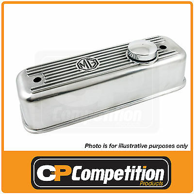 Alloy Finned Rocker Valve Cover Mg Mgb 1800 With Free Oil Cap