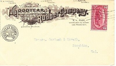 Advertising, Goodyear Rubber Co. 1898 W/#268 Trans Miss Tied.