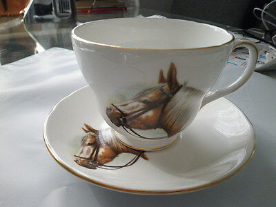 "FATHERS DAY CUP DUCHESS Cup and Saucer Duo  ""Horses"" MADE IN ENGLAND"