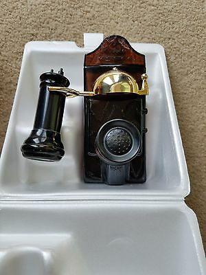 Avon  After Shave Decanter-Avon Calling 1905-Telephone With Wild Country & Talc