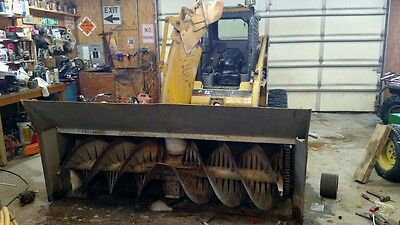 Skid steer snowblower