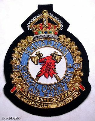 Canada - RCAF Royal Canadian Air Force 400 SQUADRON  KC Blazer Crest Badge