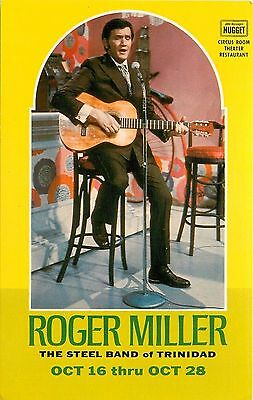 Postcard Roger Miller The Steel Band of Trinidad Nugget Casino Reno