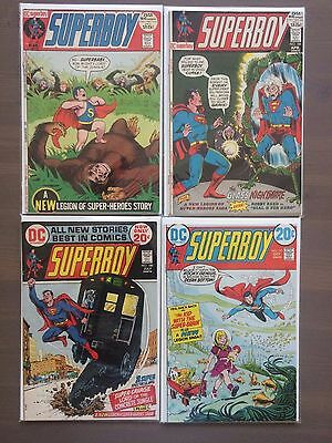 Dc Superboy - Issues # 183 184 188 191 - Four Issue Bronze Age Lot - High Grade!