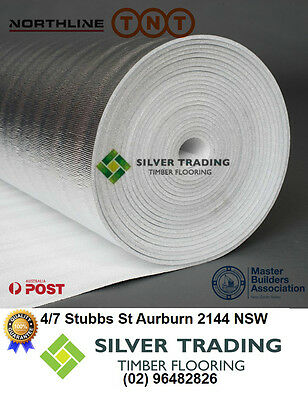 3mm Silver Foil Underlay /FLOATING FLOOR /FLOOR /TIMBER LAMINATE