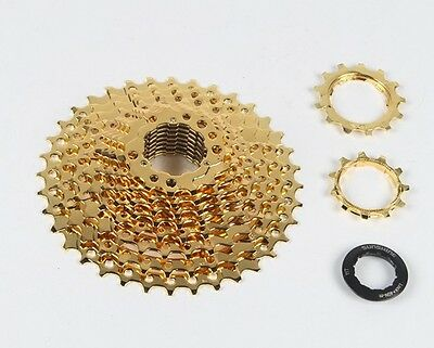 SUNSHINE MTB Bicycle 10 Speeds 11-36T Road Mountain Bike 10S 30S Cassette Gold
