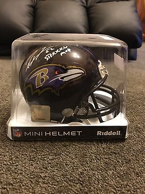 Ray Lewis Signed Mini Helmet