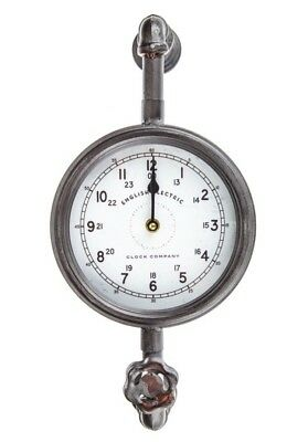 English Electric Clock Company Vintage Inspired Industrial Pipe Wall Clock