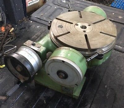 "Enco (Spain) Tilting (0-90*) 12"" Rotary Table Milling Machine Fixture Machinist"
