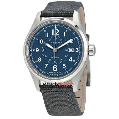 Hamilton Khaki Field Automatic Blue Dial Mens Nylon Watch H70305943