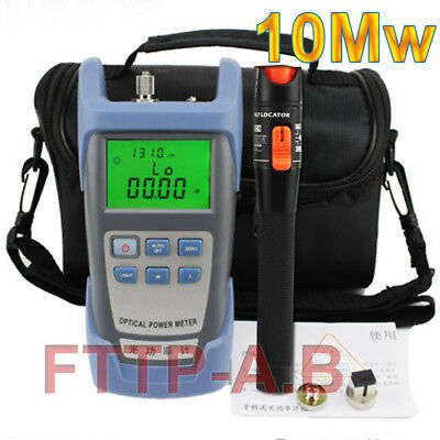 Fiber Optical Power Meter & 10Mw 10-12km Visual Fault Locator Cable Tester & Bag