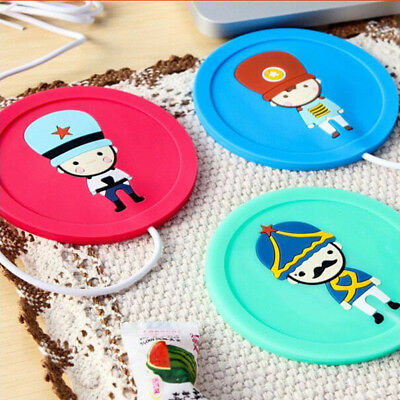 USB Electric Cup Warmer Cartoon  Shape Mat Keep Hot Coffee Tea Cup Coaster