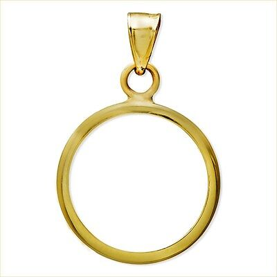 14~Kt Solid Gold ~ For 1/10~Oz Gold Eagle ~ Plain Bezel ~Modern & Clean~ $48.88
