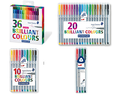 Staedtler 334 Triplus Fineliner Superfine Point Pens - 0.3mm - Assorted Colours
