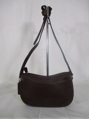 Vintage Coach Brown Leather Small Crossbody Shoulder Bag Purse 9031