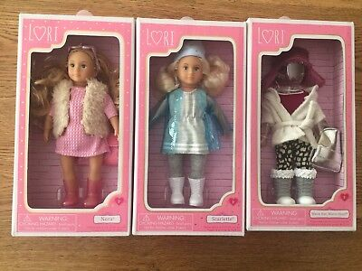 Lori Doll X 2 - Our Generation • Scarlette • Nora • 6-Inch • Clothes Set • NEW