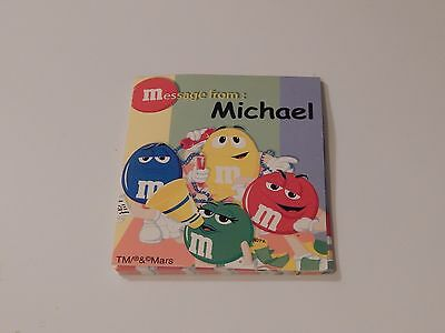M&M Mars Message from: Michael Notepad