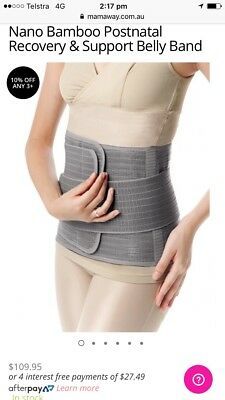 Nano Bamboo Postnatal Recovery & Support Belly Band Size M