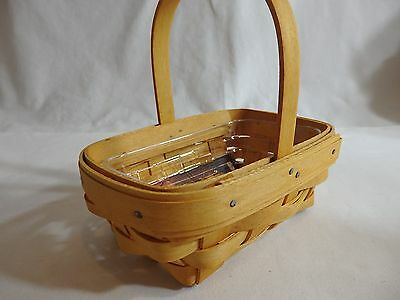 Longaberger Parsley Booking Basket with Protector