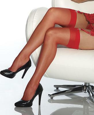 Red  sheer COQUETTE 1706 thigh high  need garter stockings Plus Size