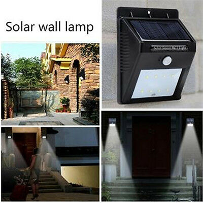 led solarlampe licht dachrinnen au enlampe wandleuchte wandlampe bewegungsmelder eur 17 29. Black Bedroom Furniture Sets. Home Design Ideas