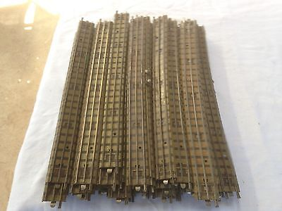 50 pieces of Hornby Dublo 3 Rail straight track.