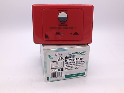 Clipsal ML2031RC10 RED RCD Protected Safety Switch 2 Pole 20A 10mA Horizontal