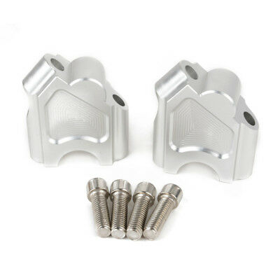 2pcs Handlebar Risers With Bolts for BMW F700GS 16-17 F650GS 08-15 Silver