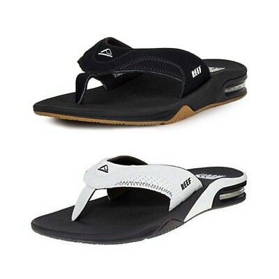 bb306c714bd4 New Reef Fanning Flip Flops Men Sandals Bottle Opener 2026 Black Brown All  Sizes