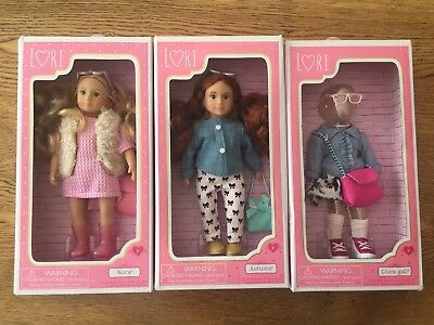Lori Doll X 2 - Our Generation • Nora • Autumn • 6-Inch • Clothes Set • NEW