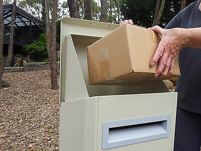 Parcel Letterbox Mail Drop Box Mailbox Post Sand Color Parcelbox Pier Cream