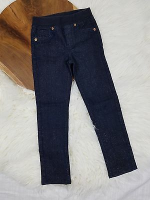 Cherokee Girls Jegging Dark Sparkle Stretch Denim Skinny Pull Up Size 5T