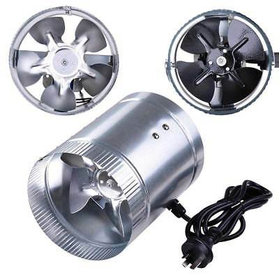 "4"" 6"" Hydroponic Exhaust Vent Fan Inline Duct Blower Aluminum Blade Ventilation"