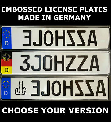 German Germany Euro European License Plate Number Plate Ready Alu Fun Funny Text