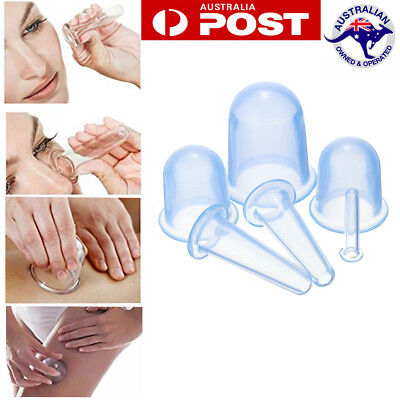 6 Pcs Cups Silicone Medical Vacuum Cupping Body Massage Anti Cellulite Body Care