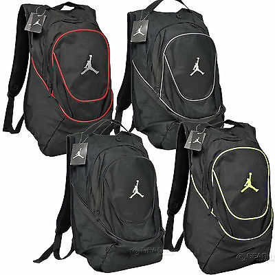 Nike Air Jordan Jumpman Backpack Bookbag Laptop Sleeve Mens Adult Black