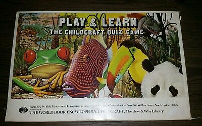 Vintage Play and Learn The Childcraft Quiz Game 1976.