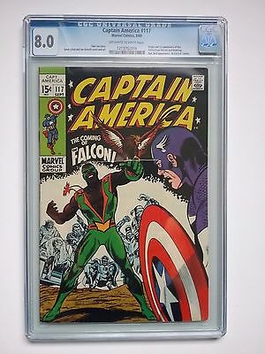 Captain America 117 CGC 8.0 1st Falcon Off White - White Pages