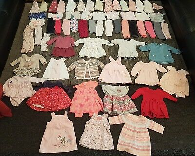 baby girls 3-6 months clothes bundle 63 items